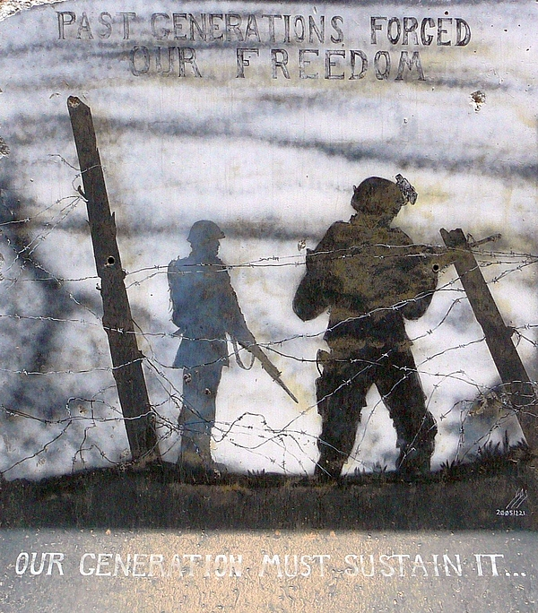 Military Painting - Forging Of Freedom by Unknown