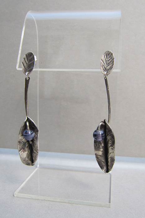 Purple. Sterling Silver Jewelry - Formed Fold Sterling Silver  by Brenda Berdnik