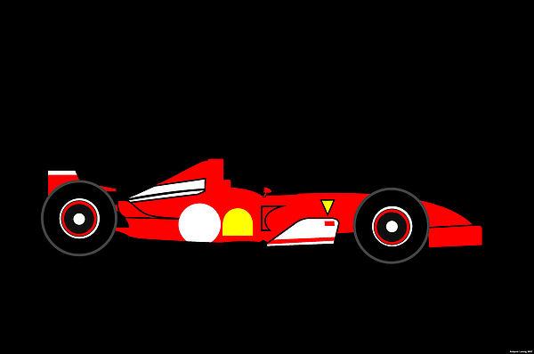 Ferrari Digital Art - Formula One Ferrari by Asbjorn Lonvig
