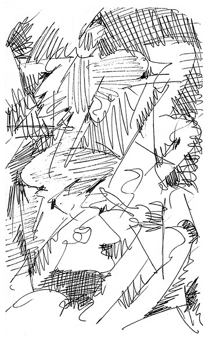 Abstract Drawing - Fort Greene 1 by Jerry Engelbach