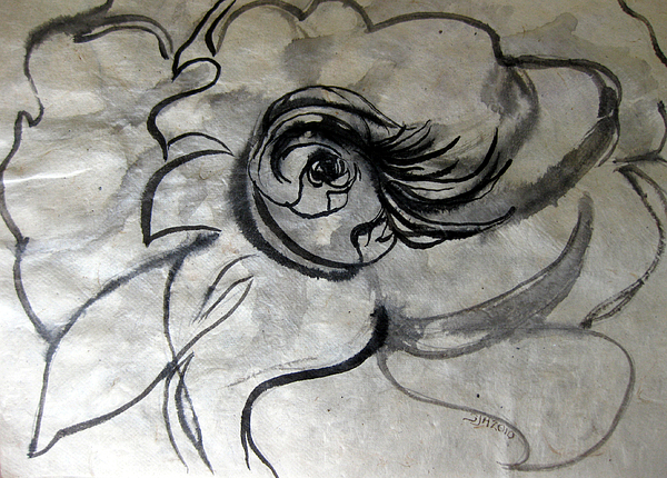 Abstract Drawing - Fountains Bubbling Eye by Sarah Hornsby