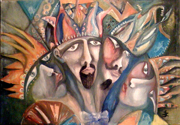 Portrait Painting - Four Kings by Gyorgy Szilagyi