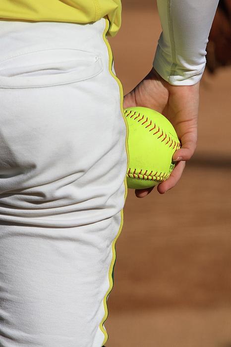 Softball Photograph - Four Seam by Laddie Halupa