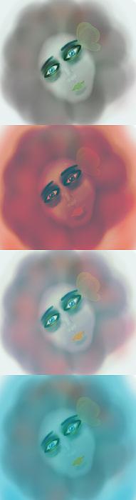 Girl Painting - Four Seasons by Joanna Kireli