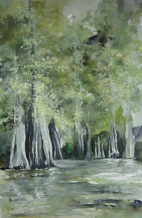 Arkansas Painting - Fourche Creek Study by Robin Miller-Bookhout