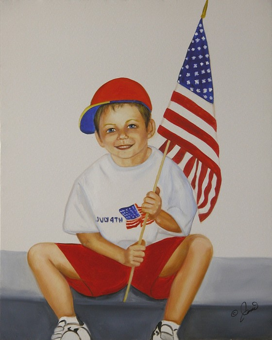 Holiday Painting - Fourth Of July by Joni McPherson