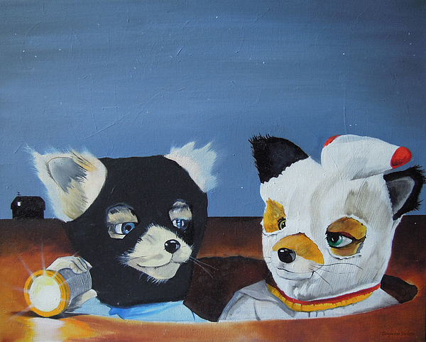 Fox Painting - Foxes From The Movie fantastic Mr. Fox by Ben Jackson