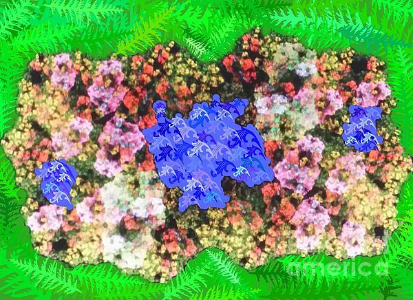 Garden Digital Art - Fractal Flower Garden by Diamante Lavendar