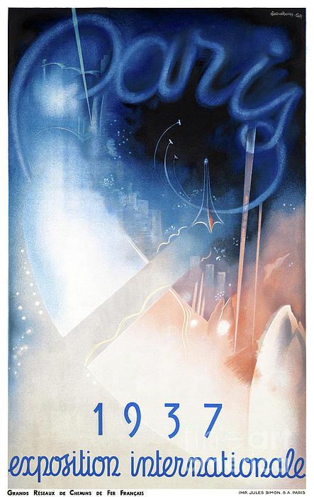 France Mixed Media - France Paris Vintage Travel Poster Restored by Carsten Reisinger