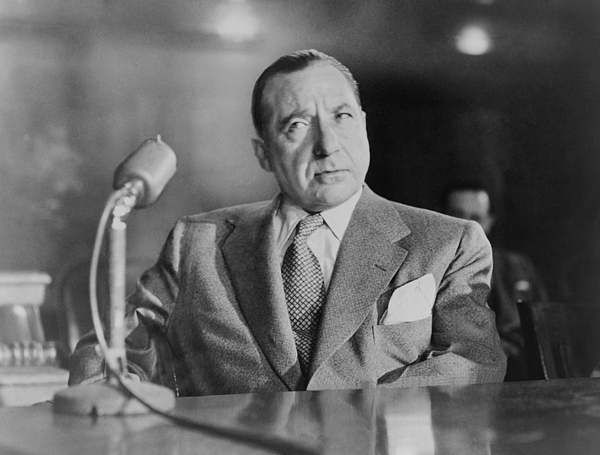 History Photograph - Frank Costello 1891-1973, Testifying by Everett