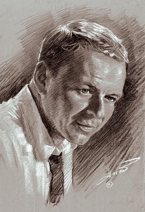 Frank Sinatra Drawing - Frank Sinatra  by Ylli Haruni