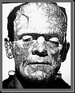 Frankenstein Drawing - Frankenstein by James Boehmer