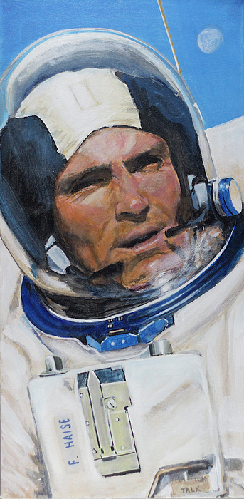 Nasa Painting - Fred Haise by Simon Kregar