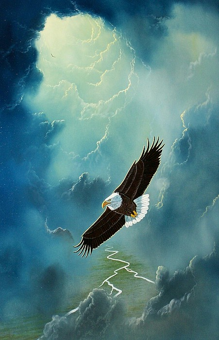 Eagle Painting - Freedom by Don Griffiths