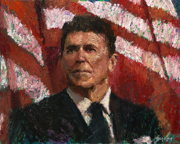 Ronald Reagan Painting - Freedom Fighter by Robert Scott