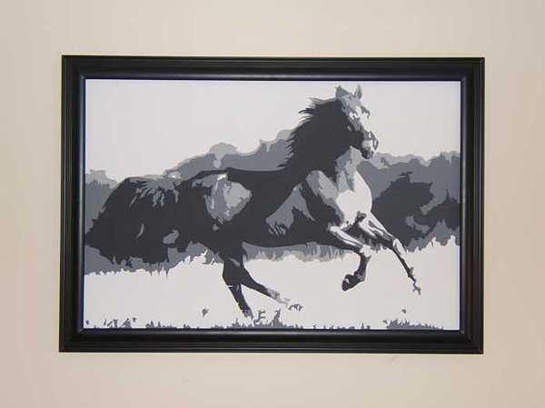 Horses Painting - Freedom by Michael James  Toomy