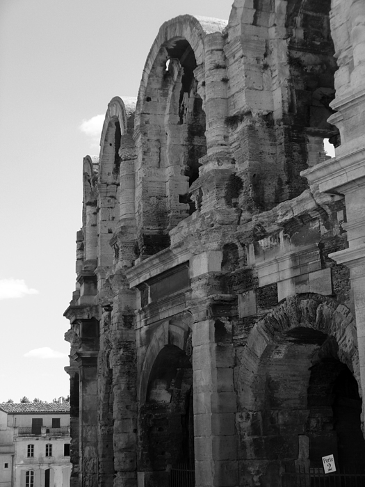 France Photograph - French Colosseum by Noelle  Kimberley