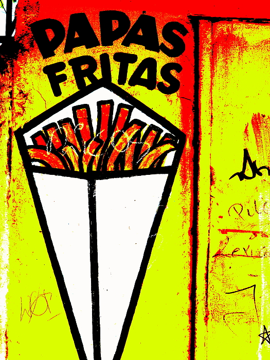 """latin America"" Photograph - French Fries Santiago Style  by Funkpix Photo Hunter"