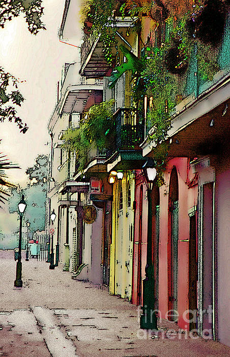 Abstract Photograph - French Quarter New Orleans by Linda  Parker