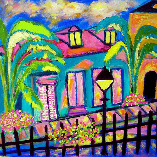 French Quarter Nite Painting by Ted Hebbler