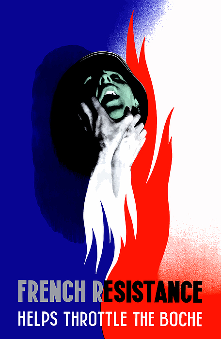 French Resistance Mixed Media - French Resistance Helps Throttle The Boche by War Is Hell Store