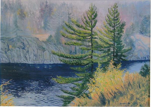 Landscape Painting - French River by Yvette Miller