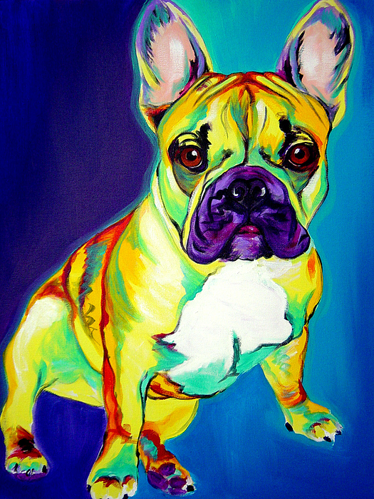 Dog Painting - Frenchie - Tugboat by Alicia VanNoy Call
