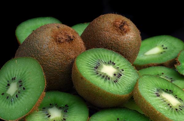 Kiwi Photograph - Fresh Kiwi by Terence Davis
