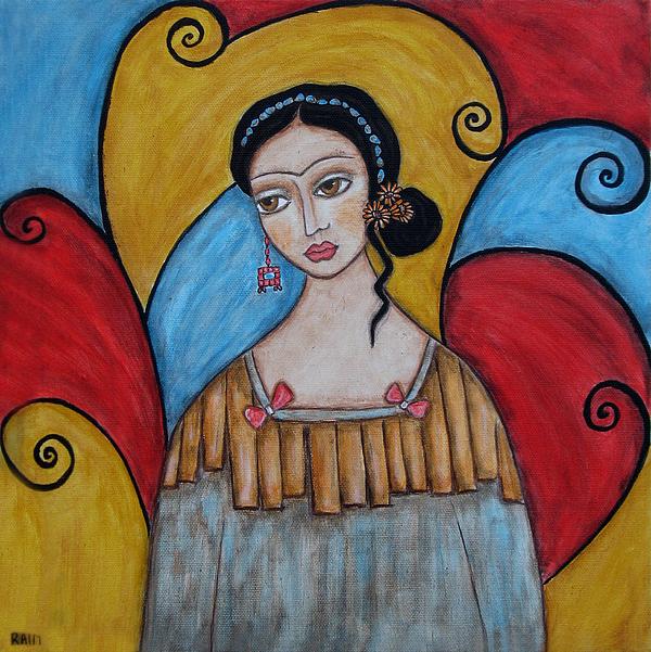 Frida Kahlo Paintings Painting - Frida Kahlo by Rain Ririn
