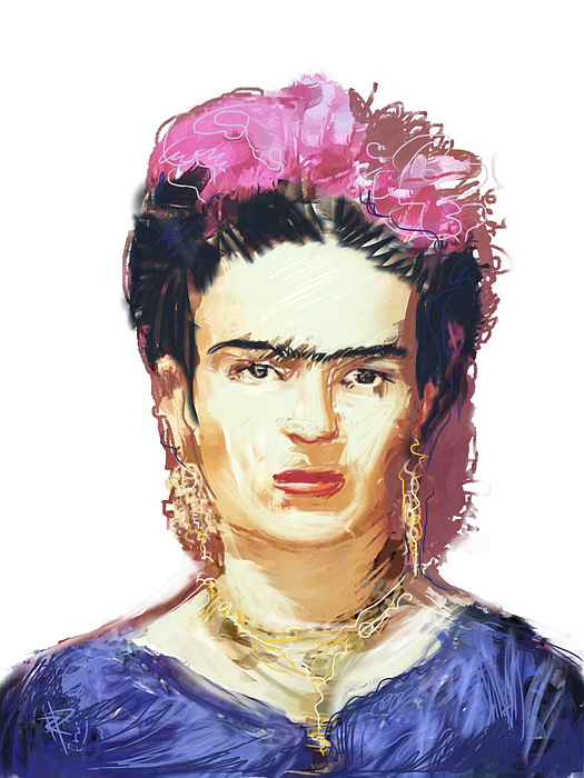 Frida Kahlo Mixed Media - Frida by Russell Pierce