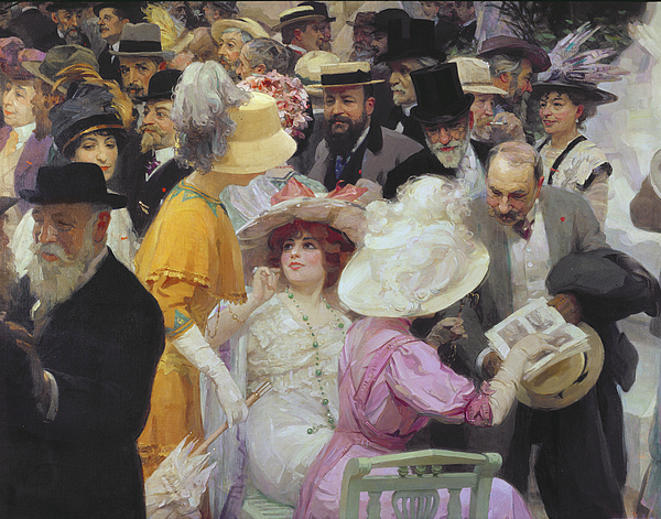 Friday At The French Artists Salon Painting - Friday At The French Artists Salon by Jules Alexandre Grun
