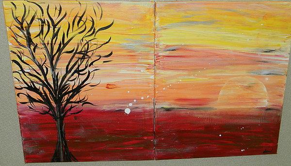 Frie Sky  Painting by Jennifer  Krawiec