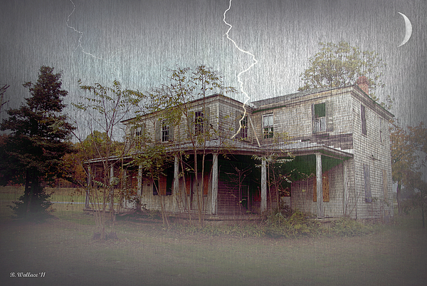2d Photograph - Frightening Lightning by Brian Wallace