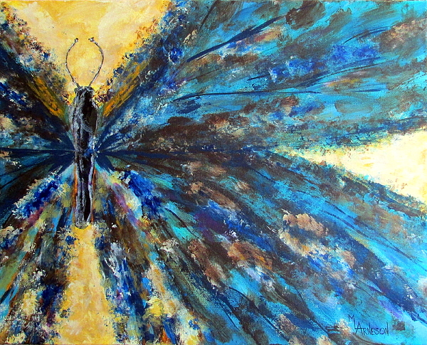 Butterfly Painting - Fringed by Mary Arneson