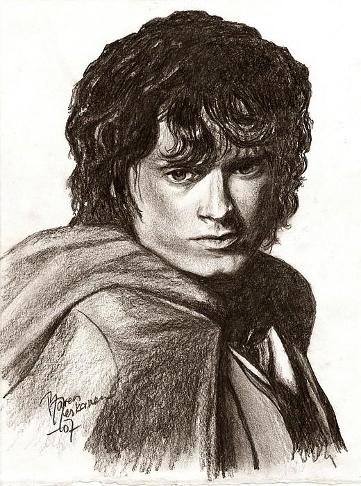 The Lord Of The Rings Drawing - Frodo by Maren Jeskanen
