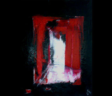 Figurative Abstract Painting - From Red To Light by Talal Ghadban