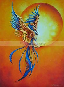 Phoenix Painting - From The Ashes by Teri Rosario