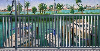 Landscape Painting - From The Balcony by Gainor Roberts