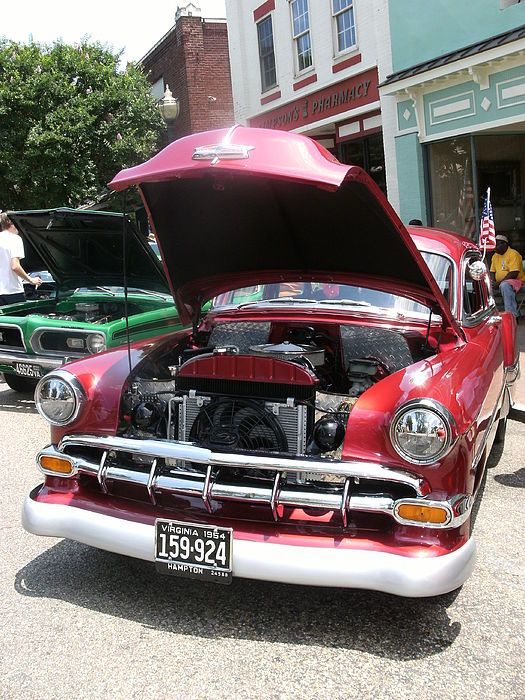 Photo Photograph - Frontview Mint Condition Red Hot Antique Car by Anne-Elizabeth Whiteway