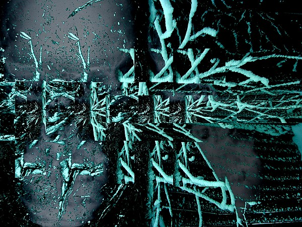 Abstract Digital Art - Frost Bite Falls by T Bork
