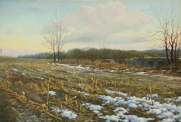 Landscape Painting - Frost by Stephen Bluto