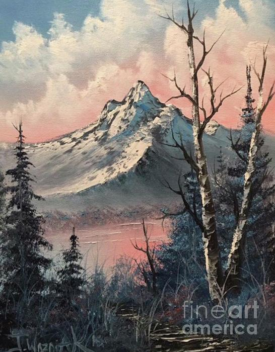 Frosty Mountain  Painting by Paintings by Justin Wozniak