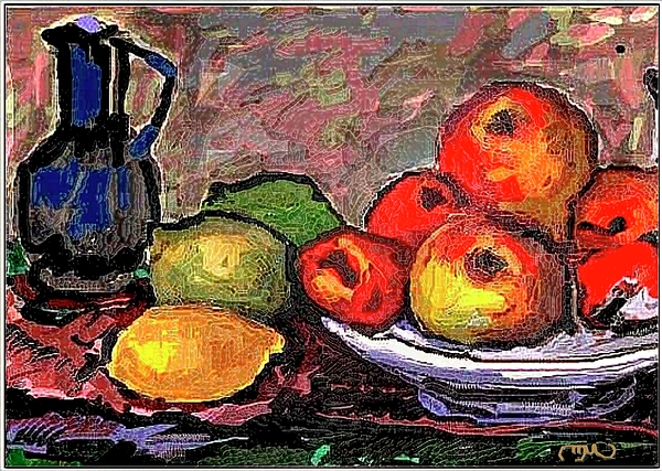 Post-impressionism Painting - Fruit by Pemaro