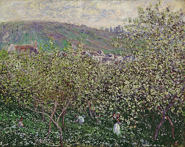 Fruit Pickers Painting - Fruit Pickers by Claude Monet