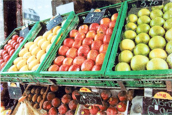Fruit Mixed Media - Fruit Stand by Bob Senesac