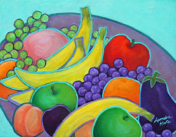 Still Life Painting - Fruity Banquet by Lorraine Klotz