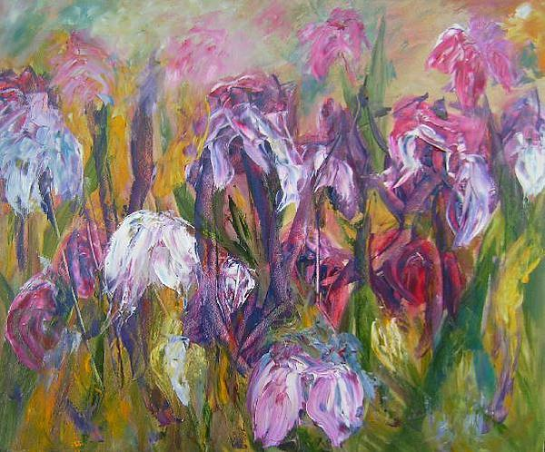 Oil Painting - Fun Flowers by Gilberte Vermeulen