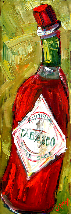 Tabasco Painting - Funky Heat by Carole Foret