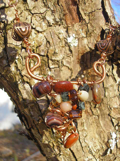 Copper Jewelry - Funky Pendant by Angie DElia