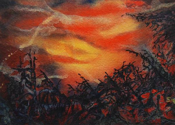 Forest Painting - Fury by Shirley McMahon